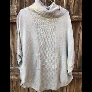 CAbi Cowl Poncho Sweater cable knit style 3003